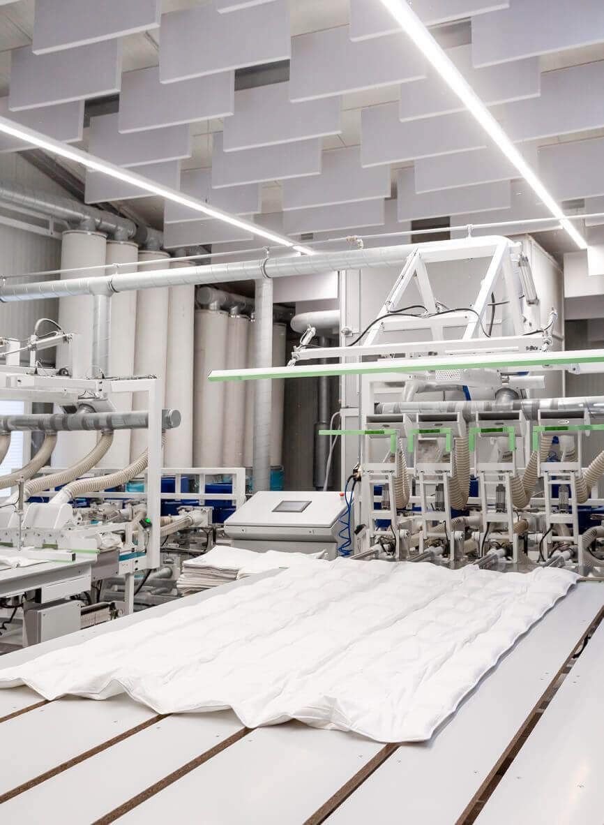 Automatisierte Mehrrohr-Füllmaschine für Bettdecken