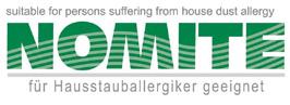 Nomite Siegel bestätigt das Otto Kellers hochwertige Bettwaren für Allergiker geeignet sind