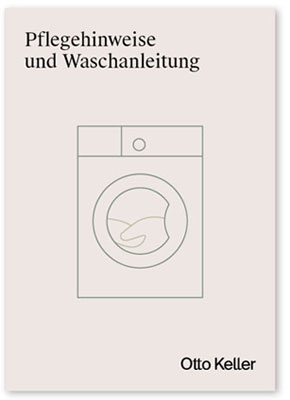 Deckblatt der Pflegeanleitung als PDF mit einer stilisierten Waschmaschine